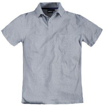 XXL Poloshirt mit Brusttasche von Allsize, hellgrau