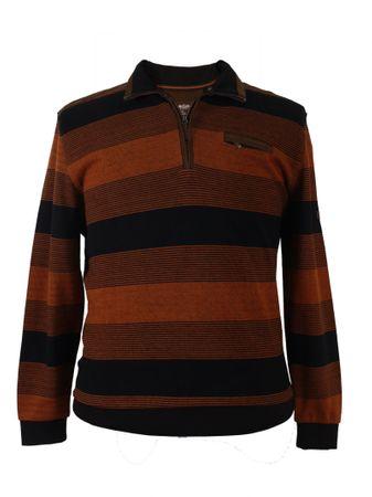 Cognac farbener Sweat-Troyer von Monte Carlo in Herrenübergröße bis 7XL