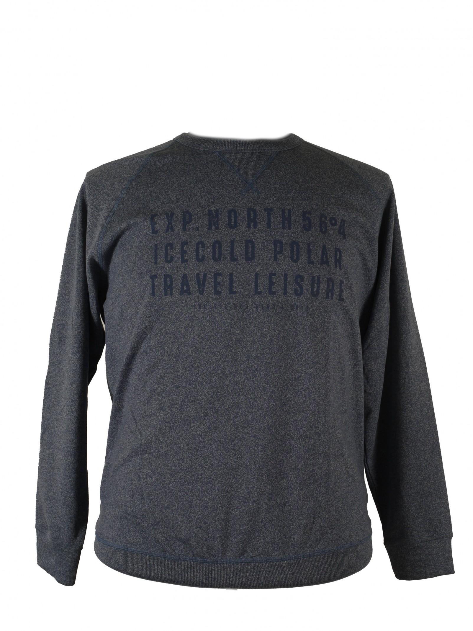 XXL Rundhals-Sweatshirt von Allsize mit elastischem Bund, blaumelange 1088f8989e21