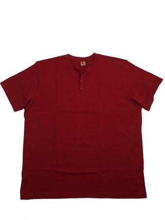 Kurzarm T-Shirt mit Knopfleiste von Abraxas, bordeaux