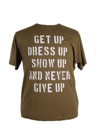 Allsize T- Shirt mit Druck in großen Größen, olive