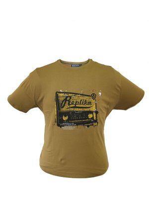 Printed T-Shirt von Replika by Allsize, dark khaki
