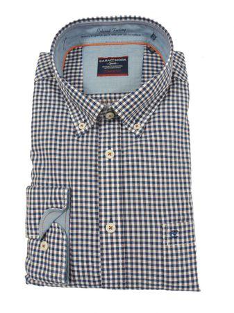 Kleinkariertes Button-down Freizeithemd, blau