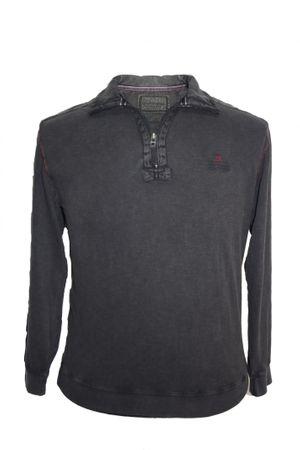 Sweat Shirt Troyer mit Reißverschluss von Monte Carlo, anthrazit