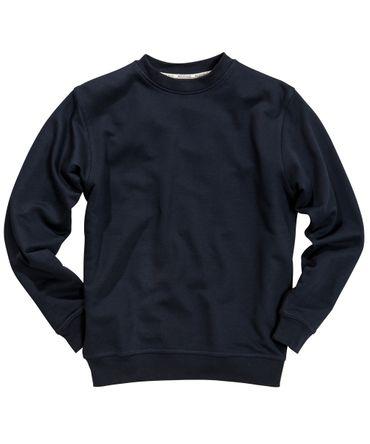 O-Neck Sweatshirt von Redfield in Herrenübergröße, navy