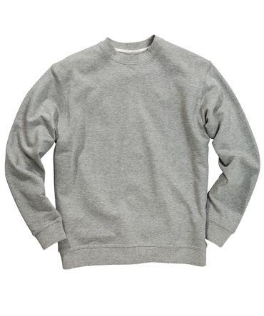 Basic Sweatshirt mit O-Neck von Redfield in Herrenübergröße in grau melange