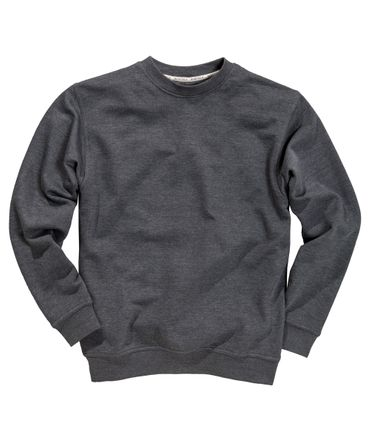 Basic Sweat-Shirt in Übergröße bis 8XL von Redfield in anthra. melange