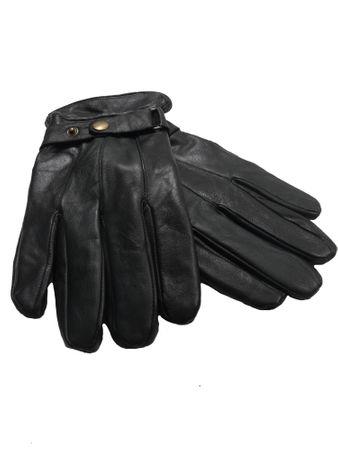 Leicht gefütterte Echt-Lederhandschuhe von Allsize in schwarz