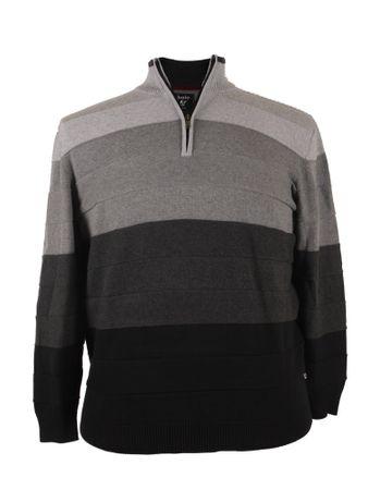 Troyer-Pullover im Farbverlauf von Hajo in schwarz/grau