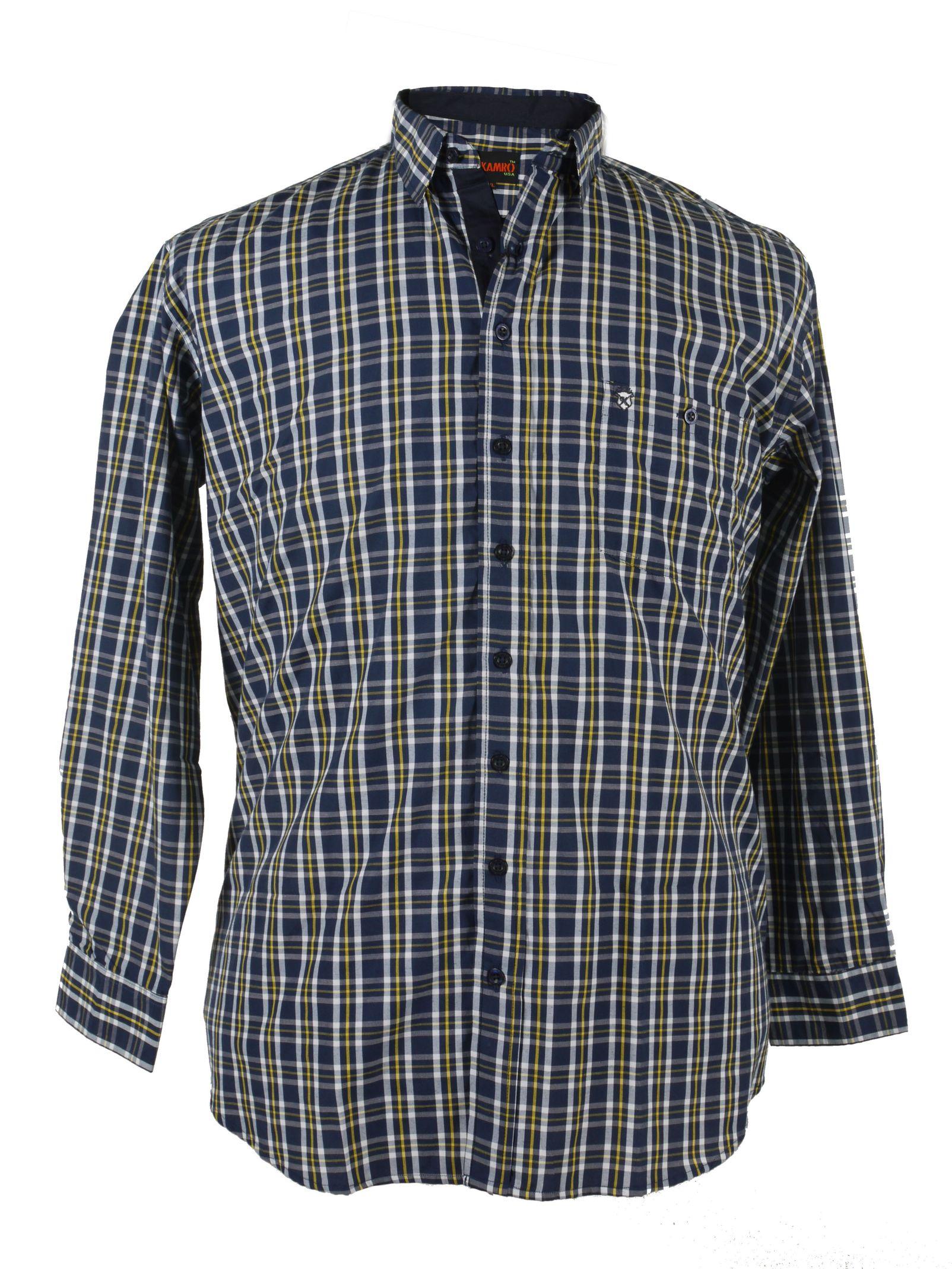 buy online ab7a3 9f9ab Blau/gelb kariertes Langarmhemd von Kamro