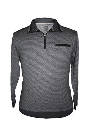 Elegantes Kitaro Sweat Shirt in großen Größen, anthrazit melange