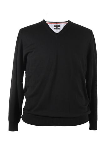 V - Neck Strick Pullover von Redfield in schwarz