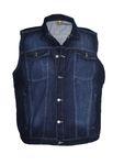 Jeansweste von Abraxas in dunkelblau stonewash