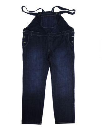 Jeans Latzhose in Herrenübergröße von Abraxas, stonewash-blue