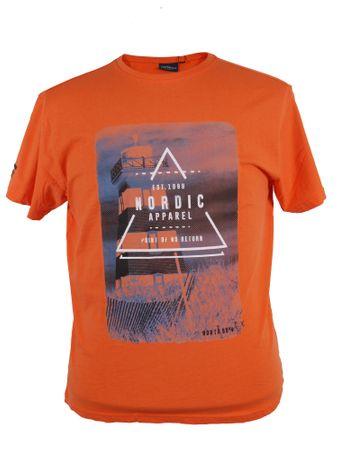 Bedrucktes T-Shirt von Allsize in Übergrößen, orange