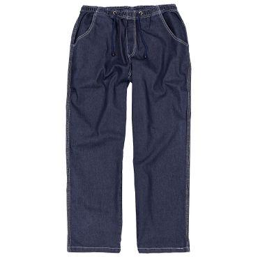 Jogging- Jeans mit Gummibund, Schlupfhose in Übergrößen bis 12XL, blau