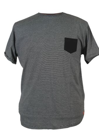 Gestreiftes T-Shirt von North 56°4, dark grey mel.