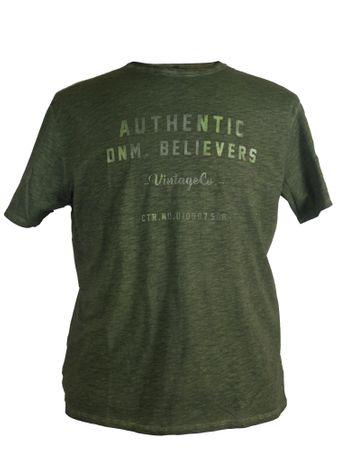 Modernes T-Shirt von Replika in olivgrün