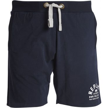 Replika Sweat Shorts in XXL Größen, navy – Bild 1