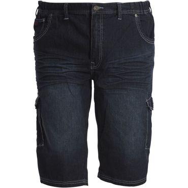 Denim Cargo- Shorts mit elastischem Bund von Replika, blau