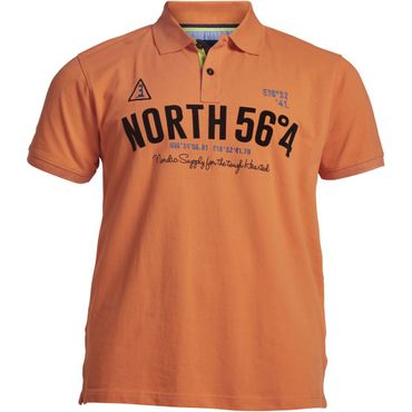 Pique Polo von North 56°4 in XXL Größen, peach