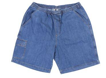 Cargo-Jeans-Bermuda von Abraxas in großen Größen, hellblau
