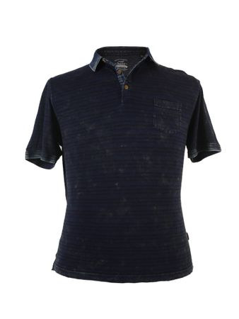Hajo Poloshirt im Used-Look, marineblau