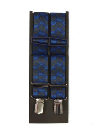 Hosenträger mit Paisleymuster in Überlänge,  blau