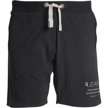 Sweat- Shorts von Replika by Allsize in Herrenübergrößen, schwarz  – Bild 1