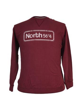 Sweatshirt mit Druck von North 56°4, bordeaux
