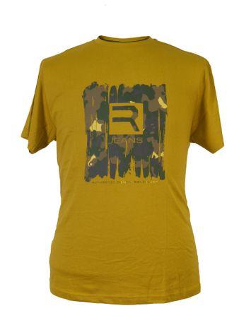 T-Shirt mit Druck von Replika, senf