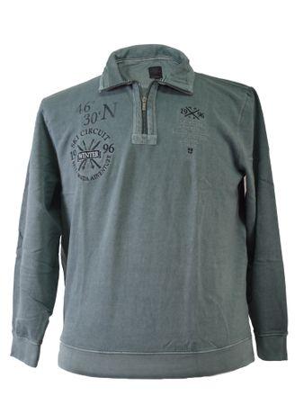 Trendiges Kitaro Sweatshirt in großen Größen, grau/blau