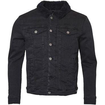 Gefütterte Jeansjacke von Replika in schwarz – Bild 1