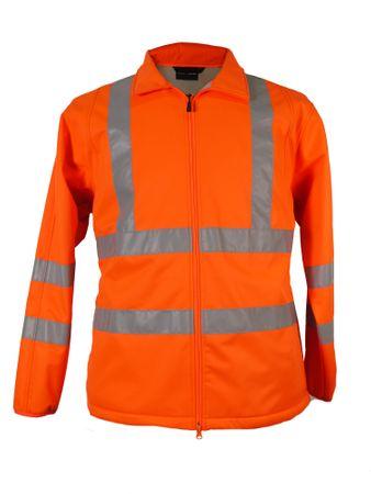Arbeits- Softshell Jacke/Weste in Übergrößen bis 12XL in orange – Bild 2