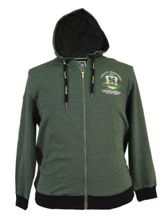 Sweat Jacke in trendigem Grün melange von Kitaro