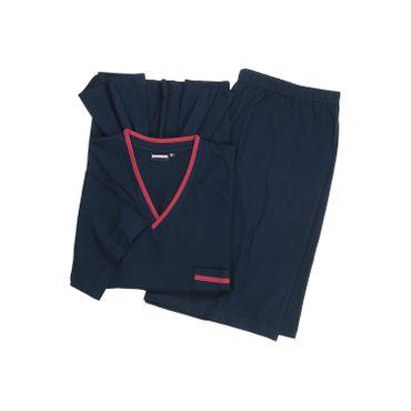 """Adamo Shorty Pyjama """"Ben"""" in großen Größen bis 10XL, navy – Bild 1"""