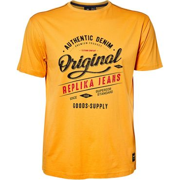 "XXL T-Shirt "" Original Replika Jeans "" in gelb – Bild 1"