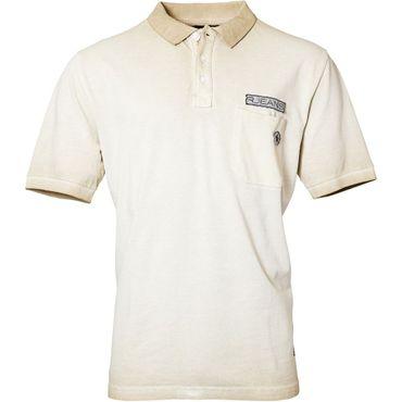 Trendiges Polo-Shirt von Replika Jeans in sand – Bild 1