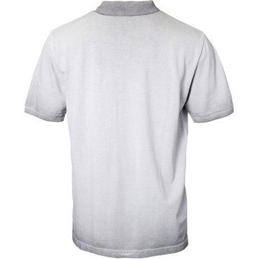 XXL Polo-Shirt mit Applikation von Replika Jeans in grau – Bild 2