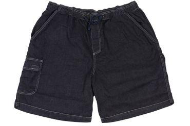 Jeans-Bermuda mit Gummibund von Abraxas in Herrenübergrößen bis 10XL, dunkelblau