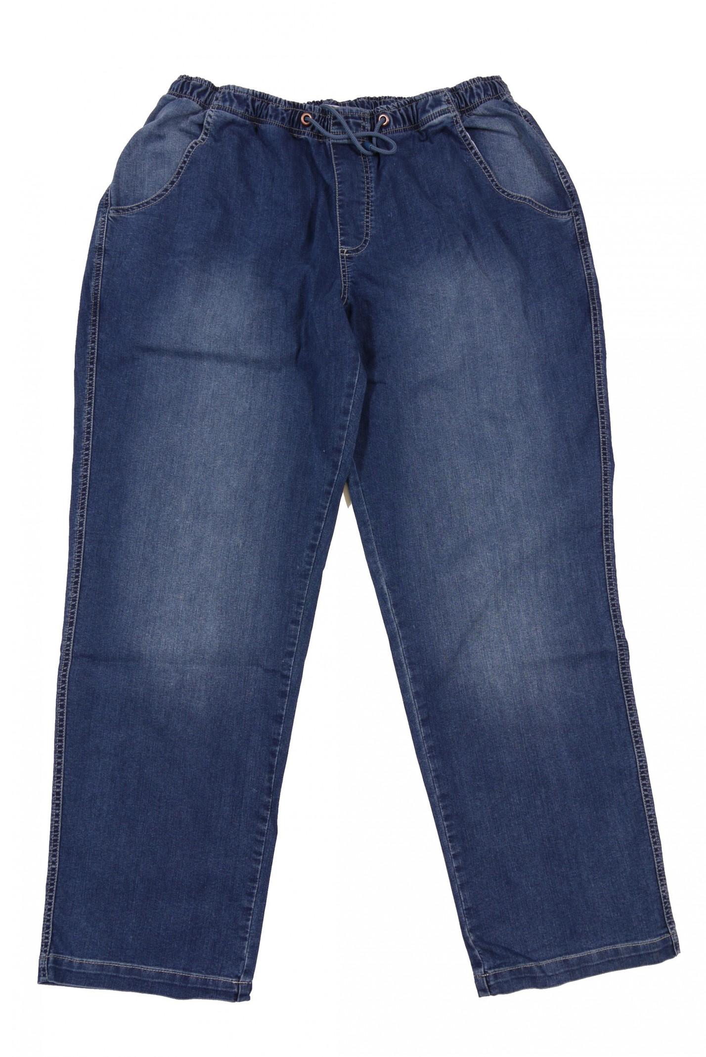 jogging jeans von abraxas mit gummibund in bergr e bis. Black Bedroom Furniture Sets. Home Design Ideas