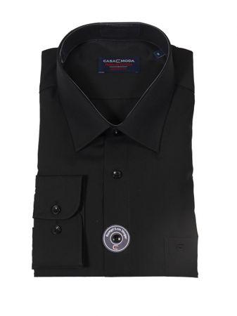 Business-Langarm-Hemd von CasaModa in großen Größen bis 7XL, schwarz