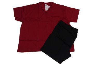 Pyjama mit kurzer Hose von Adamo, bordeaux