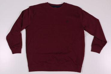 Rundhals Sweatshirt in bordeaux