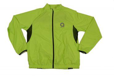 Fahrrad- Jacke von Aero Sport in Übergröße, lime