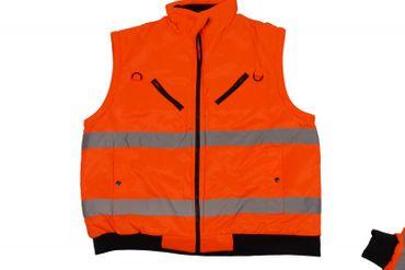 Arbeits-Jacke / Weste in Übergröße nach EN471, orange – Bild 3