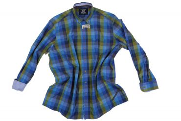 CasaModa Freizeithemd in Übergrößen kariert, grün-blau