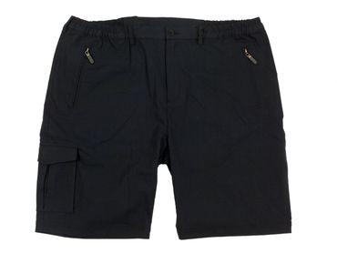 Outdoor Bermuda von Abraxas in Herren-Übergrößen, schwarz