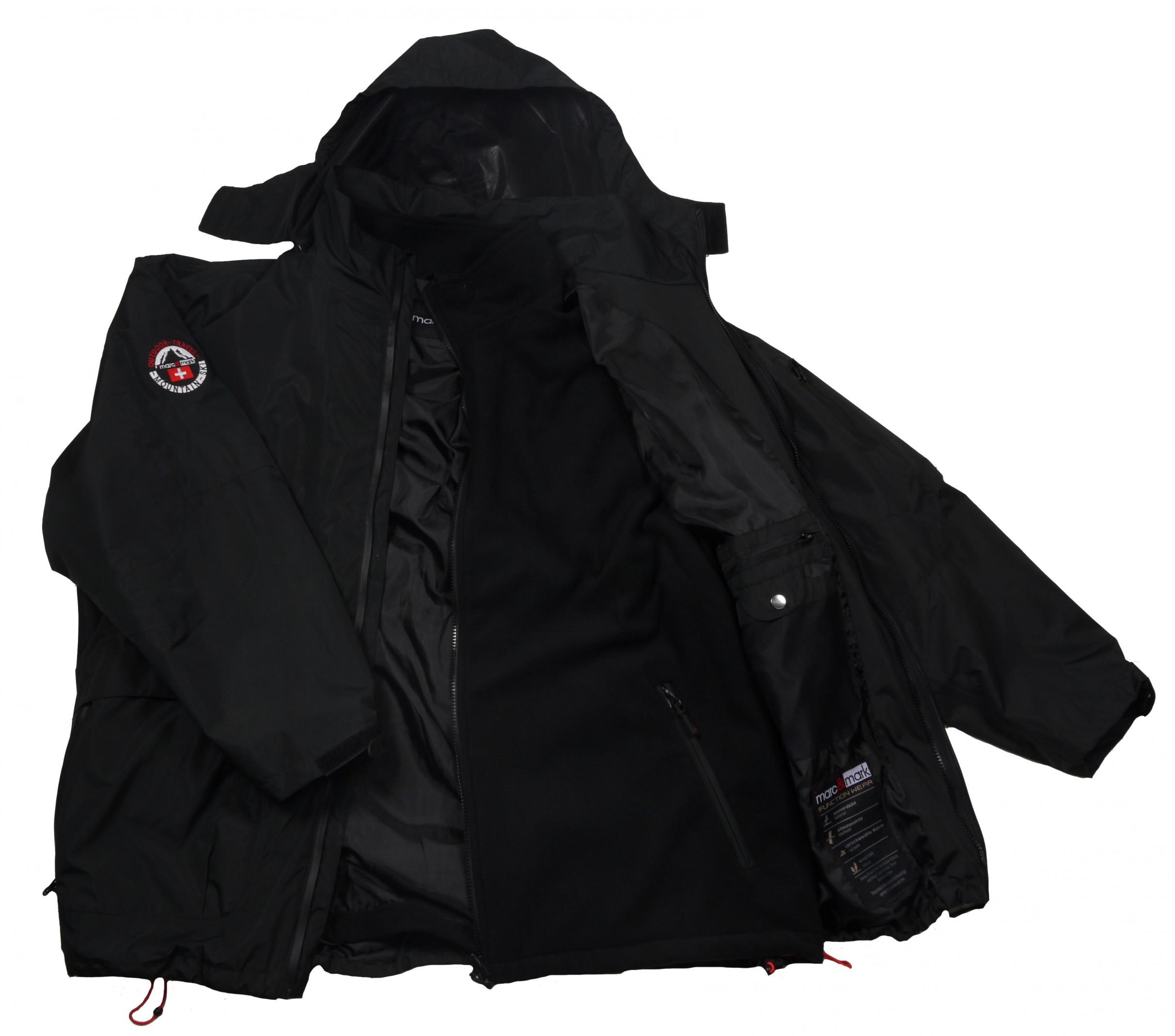 premium selection 187f8 54073 3in1 Jacke Genf in Herren- Übergröße bis 10XL, schwarz