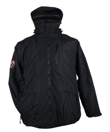 3in1 Jacke Genf in Herren- Übergröße bis 10XL, schwarz